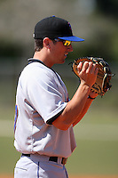March 19, 2010:  Third Baseman Tyler Vaughn (57) of the New York Mets organization during Spring Training at the Roger Dean Stadium Complex in Jupiter, FL.  Photo By Mike Janes/Four Seam Images