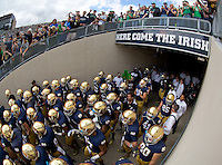 "Nothing says ""Here Come The Irish"" like a sign that says ""Here Come The Irish."""