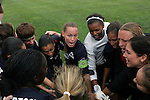 30 August 2009: Christie Rampone (center)(NJ) captain of the WPS All-Stars pumps up her teammates prior to kickoff.  The WPS All-Star team defeated the visiting Umea IK 4-2 in the first annual post season All-Star game of the Women's Professional  Soccer league at Anheuser-Busch Soccer Park, in Fenton, MO.