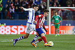Atletico de Madrid´s Vietto and Real Sociedad´s Diego Reyes during 2015-16 La Liga match between Atletico de Madrid and Real Sociedad at Vicente Calderon stadium in Madrid, Spain. March 01, 2016. (ALTERPHOTOS/Victor Blanco)