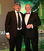 Thursday 10th May 2018 | Ulster Rugby Awards 2018<br /> <br /> Ulster Branch President, Graffin Parke, presents Rory Best with his 200 Cap during the 2018 Heineken Ulster Rugby Awards at La Mom Hotel, Belfast. Photo by John Dickson / DICKSONDIGITAL