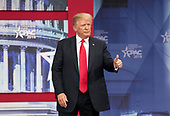 United States President Donald J. Trump  speaks at the Conservative Political Action Conference (CPAC) at the Gaylord National Resort and Convention Center in National Harbor, Maryland on Friday, February 23, 2018.<br /> Credit: Ron Sachs / CNP