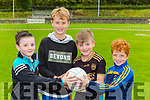 Adam Moynihan, Colm O'Connor, Micheal O'Sullivan and Mark Corkery on the ball at the Spa GAA funday on Saturday