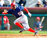 4 March 2010: Washington Nationals' center fielder Nyjer Morgan in action during the Nationals-Astros Grapefruit League Opening game at Osceola County Stadium in Kissimmee, Florida. The Houston Astros defeated the Nationals split-squad 15-5 in Spring Training action. Mandatory Credit: Ed Wolfstein Photo