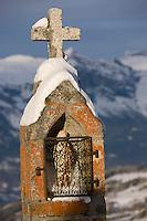 Europe/France/Rhone-Alpes/74/Haute-Savoie/Megève: Calvaire à l'arrivée du  téléphérique de Rochebrune