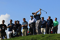 Ronan Mullarney (Galway) on the 17th during the Final of the AIG Irish Amateur Close Championship 2019 in Ballybunion Golf Club, Ballybunion, Co. Kerry on Wednesday 7th August 2019.<br /> <br /> Picture:  Thos Caffrey / www.golffile.ie<br /> <br /> All photos usage must carry mandatory copyright credit (© Golffile | Thos Caffrey)