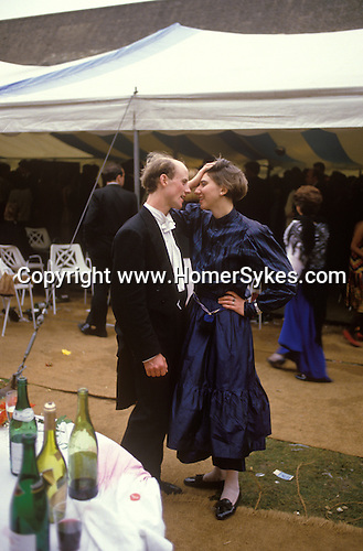 May Ball the morning after Oxford University.  Magdalen College students. The English Season published by Pavilon Books 1987
