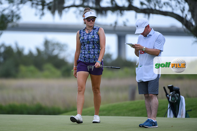 Fatima Fernandez Cano (ESP) looks over the green on 10 during round 2 of the 2019 US Women's Open, Charleston Country Club, Charleston, South Carolina,  USA. 5/31/2019.<br /> Picture: Golffile | Ken Murray<br /> <br /> All photo usage must carry mandatory copyright credit (© Golffile | Ken Murray)