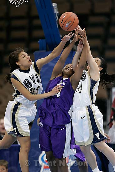 BYU vs. TCU women's college basketball, Mountain West Conference Tournament in Denver.<br />