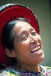 A K'iche' Maya indigenous woman in Santiago Atitlan, Guatemala.