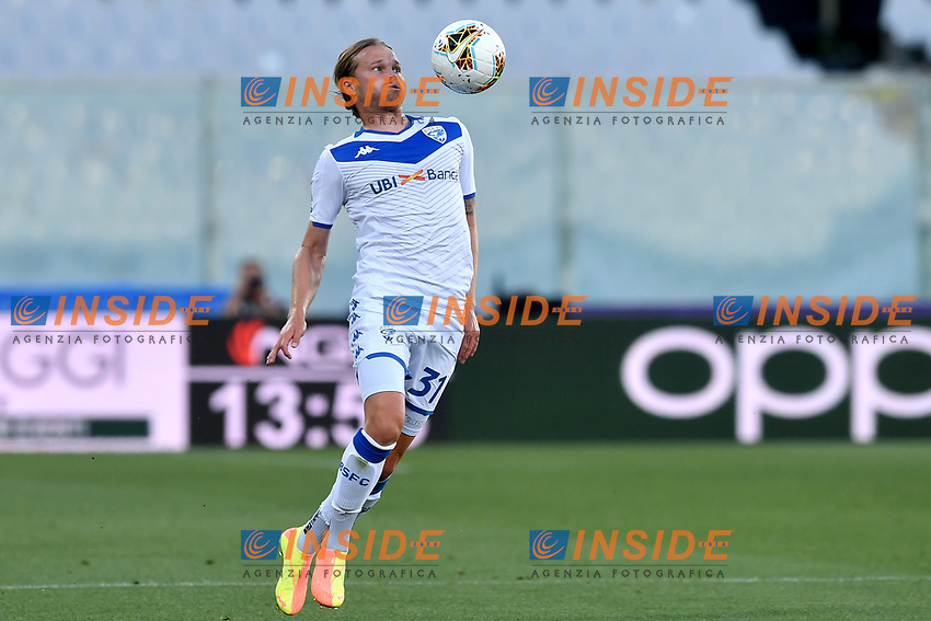 Birkir Bjarnason of Brescia in action during the Serie A football match between ACF Fiorentina and Brescia Calcio at Artemio Franchi stadium in Florence ( Italy ), June 22th, 2020. Play resumes behind closed doors following the outbreak of the coronavirus disease. <br /> Photo Antonietta Baldassarre / Insidefoto