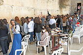Very high resolution late afternoon view of unidentified Jewish women praying at the Western Wall in the Old City of Jerusalem on Thursday, November 2, 2017.<br /> Credit: Ron Sachs / CNP