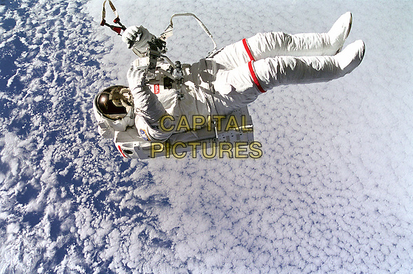 Mark Lee Tetherless and Free.space universe galaxy gv general view spaceship rocket full length astronaut spacesuit .*Editorial Use Only*.CAP/NASA/PLF.Supplied by PLF/NASA/Capital Pictures