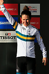 Amanda Spratt (AUS) finishes 3rd place at the end of the Women Elite Road Race of the UCI World Championships 2019 running 149.4km from Bradford to Harrogate, England. 28th September 2019.<br /> Picture: Eoin Clarke | Cyclefile<br /> <br /> All photos usage must carry mandatory copyright credit (© Cyclefile | Eoin Clarke)