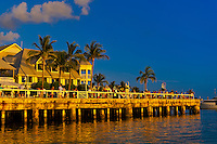 People gathering at Mallory Square for the daily Sunset Celebration, Key West, Florida Keys, Florida USA