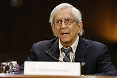 Dr. Richard J. Hodes, Director, National Institute on Aging, National Institutes of Health (NIH), testifies on Alzheimer's disease research before the Senate Special Committee on Aging, on Capitol Hill in Washington, DC on Tuesday, April 2, 2019.<br /> Credit: Martin H. Simon / CNP