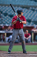 Arizona Diamondbacks third baseman Buddy Kennedy (25) at bat during an Instructional League game against the Kansas City Royals at Chase Field on October 14, 2017 in Phoenix, Arizona. (Zachary Lucy/Four Seam Images)