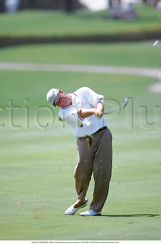 MATHIAS GRONBERG (SWE), Dubai Desert Classic, Emirates Golf Club, 010303 Photo:Glyn Kirk/Action Plus...2001.Golf.golfer golfers...
