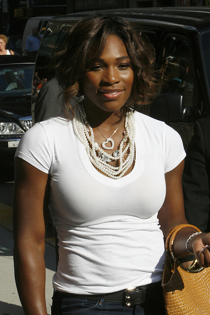 WWW.ACEPIXS.COM . . . . .  ....July 6 2009, New York City....Tennis player Serena Williams made an appearance at the 'Late Show With David Letterman' at the Ed Sullivan Theater on July 6, 2009 in New York City. ....Please byline: NANCY RIVERA- ACE PICTURES.... *** ***..Ace Pictures, Inc:  ..tel: (212) 243 8787 or (646) 769 0430..e-mail: info@acepixs.com..web: http://www.acepixs.com