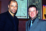 Paul McGrath with Rourke Carr at the Opening Night of Mother Hughes...Pic Tony Campbell/Newsfile