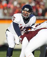 Nov 27, 2010; Charlottesville, VA, USA;  Virginia Cavaliers quarterback Ross Metheny (15) during the game at Lane Stadium. Virginia Tech won 37-7. Mandatory Credit: Andrew Shurtleff-