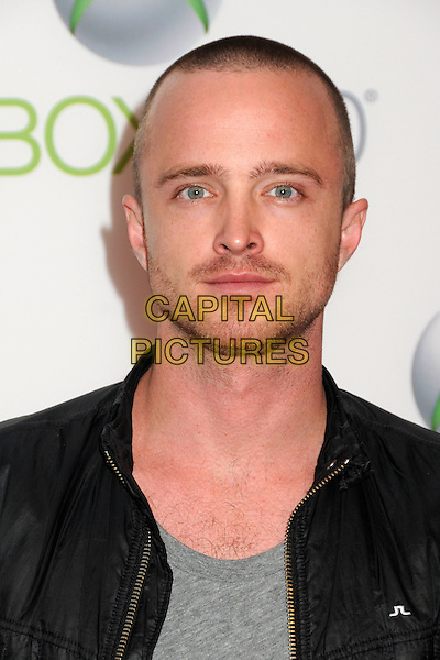 "AARON PAUL.Xbox 360's ""Project Natal"" Premiere Party held at USC's Galen Center, Los Angeles, California, USA..June 13th, 2010.headshot portrait black grey gray stubble facial hair .CAP/ADM/BP.©Byron Purvis/AdMedia/Capital Pictures."