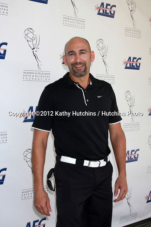 LOS ANGELES - SEP 10:  Jason Olazabal arrives at the 13TH PRIMETIME EMMY CELEBRITY TEE-OFF at Oakmont Country Club on September 10, 2012 in Glendale, CA