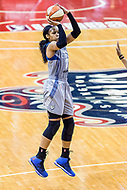 Washington, DC - Sept 17, 2017: Minnesota Lynx forward Maya Moore (23) hits a jump shot during playoff game between the Mystics and Lynx at the Verizon Center in Washington, DC. (Photo by Phil Peters/Media Images International)