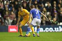 Preston North End's Andrew Hughes  in action with Birmingham City's Connor Mahoney<br /> <br /> Photographer Mick Walker/CameraSport<br /> <br /> The EFL Sky Bet Championship - Birmingham City v Preston North End - Saturday 1st December 2018 - St Andrew's - Birmingham<br /> <br /> World Copyright © 2018 CameraSport. All rights reserved. 43 Linden Ave. Countesthorpe. Leicester. England. LE8 5PG - Tel: +44 (0) 116 277 4147 - admin@camerasport.com - www.camerasport.com