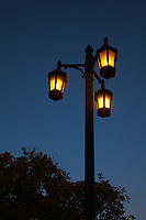 Lamp Post, Dusk, Mallory Square, Key West, Florida Keys