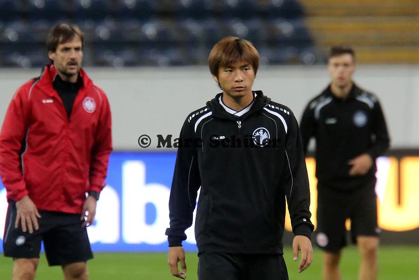 Takashi Inui (Eintracht) - Training zur Begegnung der Europa League Eintracht Frankfurt vs. Girondins Bordeaux