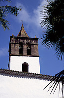 Tower of the San Marcos church in Icod de los Vinos, Tenerife, Spain