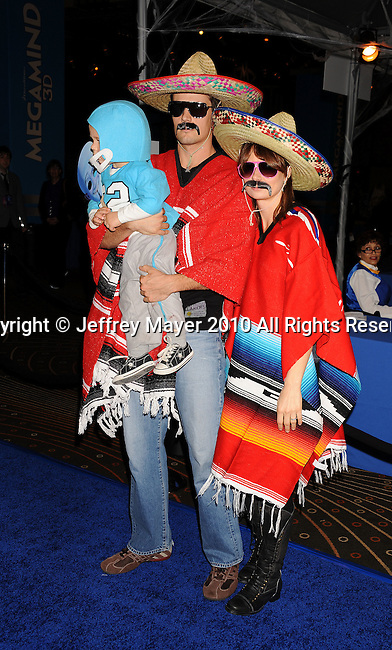 """HOLLYWOOD, CA. - October 30: Mary Lynn Rajskub, husband Matthew Rolph and child arrives at the """"Megamind"""" Los Angeles Premiere at Mann Chinese 6 on October 30, 2010 in Los Angeles, California."""