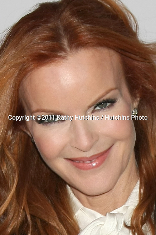 "LOS ANGELES - SEPT 21:  Marcia Cross arriving at the ""Desperate Housewives"" Final Season Kick-Off Party at Wisteria Lane, Universal Studios on September 21, 2011 in Los Angeles, CA"