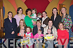 Parents and kids enjoying the fun at the Garveys Parent and Toddlers morning in the River Island Hotel Castleisland on Friday morning front row l-r: Norah, Aodain O'Connor, Mairead Burke, Noreen, Allanah O'Mahony, Maria, Ben Brosnan, Ruth Horgan. Back row: Jackie O'Connor, Aileen Ahern, Joan, Leah Burke, Nathan, Sheilanne Egan, Margaret Ryan Manager and Tracy Broderick..