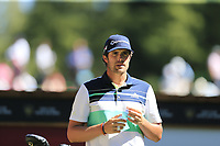 Nacho Elvira (ESP) on the 6th tee during Sunday's Final Round 4 of the 2018 Omega European Masters, held at the Golf Club Crans-Sur-Sierre, Crans Montana, Switzerland. 9th September 2018.<br /> Picture: Eoin Clarke | Golffile<br /> <br /> <br /> All photos usage must carry mandatory copyright credit (&copy; Golffile | Eoin Clarke)