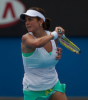 Julia Georges (GER) against Caroline Wozniacki (DEN) (4) in the Second Round of the Womens Singles. Wozniacki beat Georges 6-3 6-1..International Tennis - Australian Open Tennis - Thur 21 Jan 2010 - Melbourne Park - Melbourne - Australia ..© Frey - AMN Images, 1st Floor, Barry House, 20-22 Worple Road, London, SW19 4DH.Tel - +44 20 8947 0100.mfrey@advantagemedianet.com