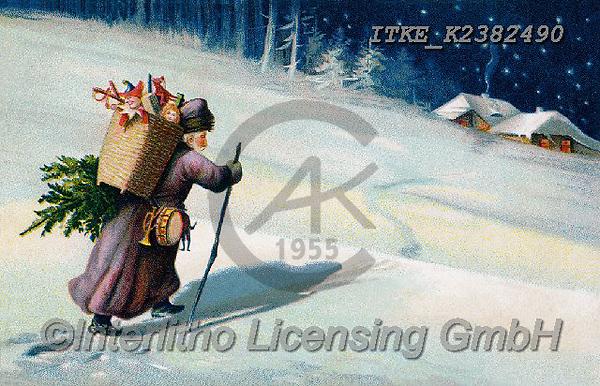 Isabella, CHRISTMAS SANTA, SNOWMAN, WEIHNACHTSMÄNNER, SCHNEEMÄNNER, PAPÁ NOEL, MUÑECOS DE NIEVE, nostalgic, paintings+++++,ITKEK2382490,#X#