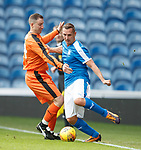 24.3.2018: Rangers legends match:<br /> Rangers youth team coaches Gregory Vignal and Peter Lovenkrands