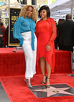 LOS ANGELES, CA. January 28, 2019: Mary J. Blige & Taraji P. Henson  at the Hollywood Walk of Fame Star Ceremony honoring Taraji P. Henson.<br /> Pictures: Paul Smith/Featureflash