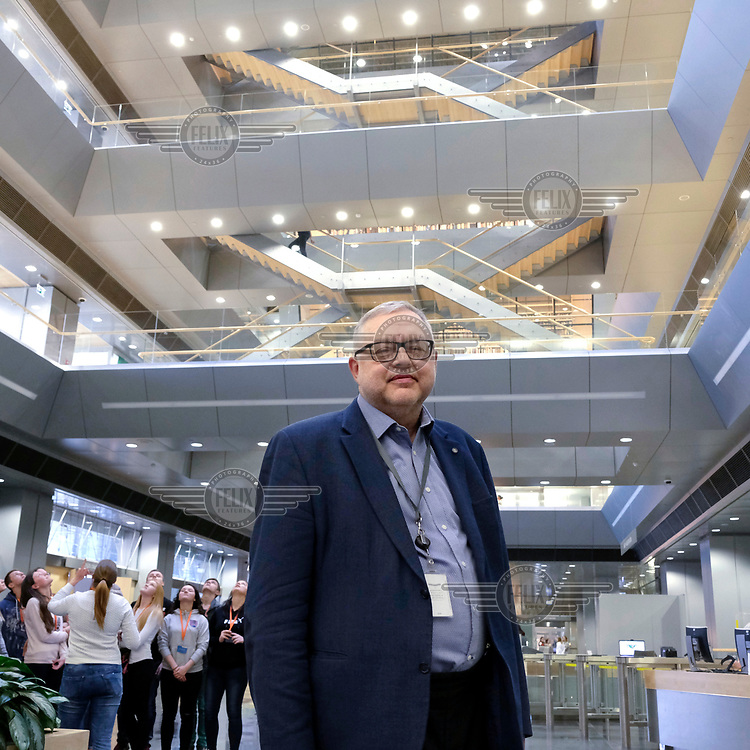 Andris Vicks, the director of the new National Library of Riga, inagurated in 2014.
