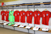 England shirts on display in the dressing room ahead of kick-off during Guatemala Under-23 vs England Under-20, Tournoi Maurice Revello Football at Stade Marcel Cerdan on 11th June 2019