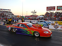 Sep 27, 2013; Madison, IL, USA; NHRA pro stock driver Dave River during qualifying for the Midwest Nationals at Gateway Motorsports Park. Mandatory Credit: Mark J. Rebilas-