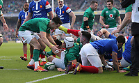 Sunday10th March 2019 | Ireland vs France<br /> <br /> Rory Best scores during the Guinness 6 Nations clash between Ireland and France at the Aviva Stadium, Lansdowne Road, Dublin, Ireland. Photo by John Dickson / DICKSONDIGITAL