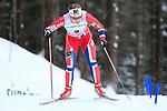 Norway's Ingvild Oestberg competes during the FIS Ski World Cup 1.3 Km Sprint Free Qualification, on February 2, 2014 in Dobbiaco, Toblach. <br /> <br /> &copy; Pierre Teyssot