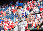 New York Mets second baseman Robinson Cano (24) singles in the ninth inning against the Washington Nationals at Nationals Park in Washington, D.C. on Thursday, May 16, 2019.  The Nationals won the game 7 - 6.  <br /> Credit: Ron Sachs / CNP<br /> (RESTRICTION: NO New York or New Jersey Newspapers or newspapers within a 75 mile radius of New York City)