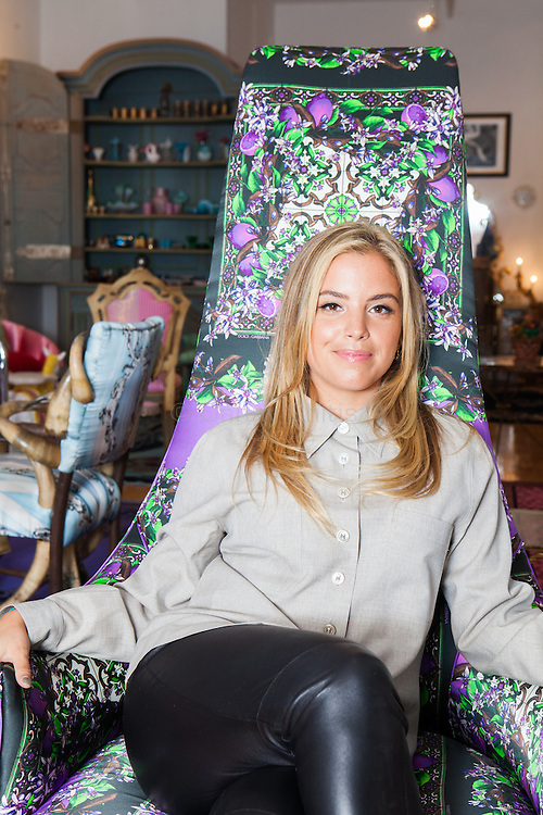 Interior designer Sasha Bikoff at her new store in Tribeca. <br /> <br /> <br /> Danny Ghitis for The New York Times