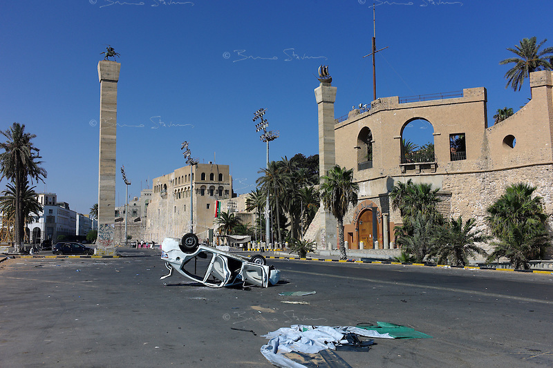 Tripoli, Libya, August 25, 2011.The city enjoys its first largely peaceful day since the fall of the Khaddafi regime, an eerie calm has replaced the fear.