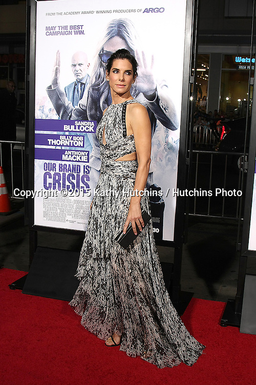 "LOS ANGELES - OCT 26:  Sandra Bullock at the ""Our Brand is Crisis"" LA Premiere at the TCL Chinese Theater on October 26, 2015 in Los Angeles, CA"