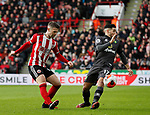 Oliver Norwood of Sheffield Utd and Emi Buendia of Norwich Cityduring the Premier League match at Bramall Lane, Sheffield. Picture date: 7th March 2020. Picture credit should read: Simon Bellis/Sportimage